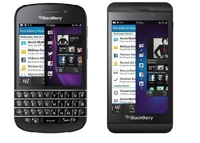 Blackberry Z10 e Q10