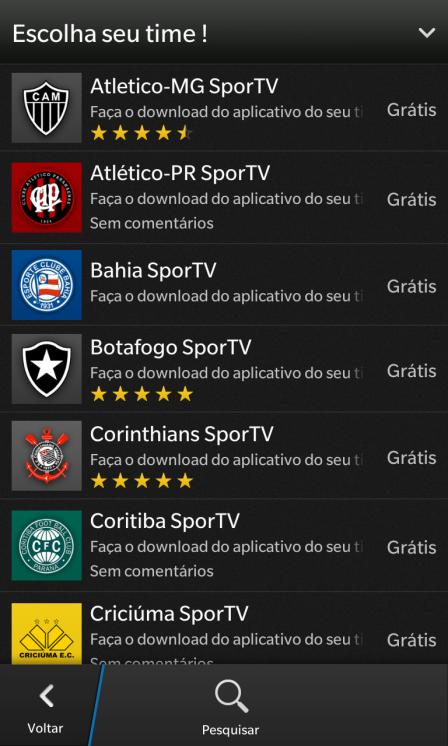 SporTV - Times