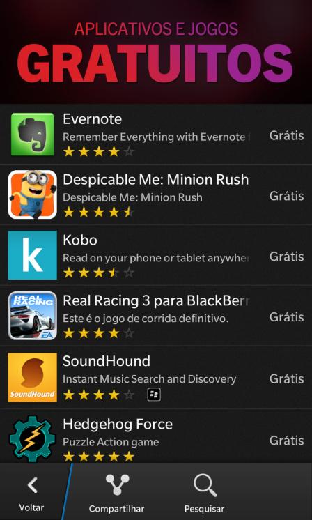 Apps e Jogos Gratuitos