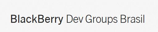 Blackberry Dev Groups Brasil