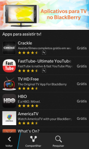 Televisao no BlackBerry