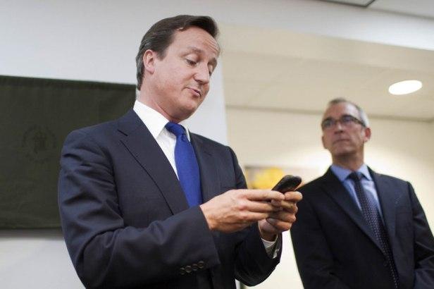 David Cameron e BlackBerry
