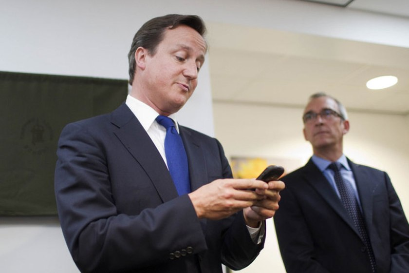 David Cameron e BlackBerry
