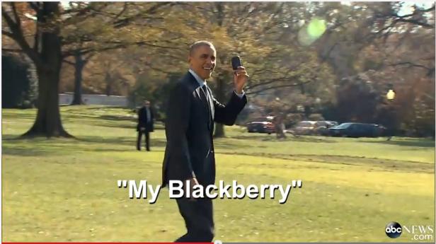 Barack Obama e BlackBerry