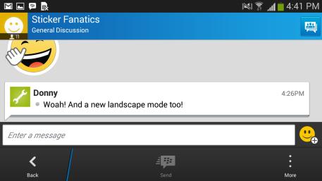 Modo Paisagem BBM android