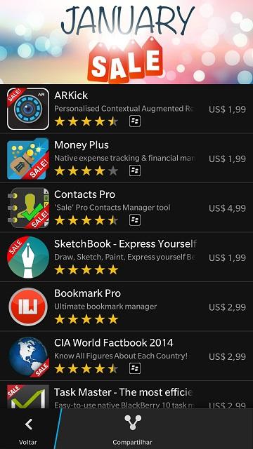 Apps em destaque - Janeiro 2015