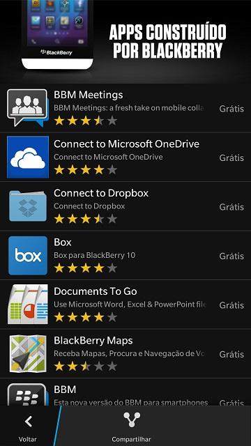 Apps Criados pela BlackBerry