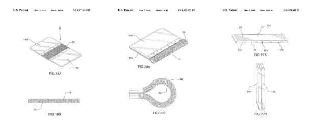 Telas flexiveis - Patentes