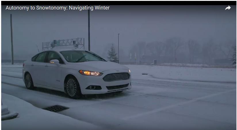 Ford autonomo neve QNX